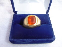 3.52 ct. fire opal man's ring