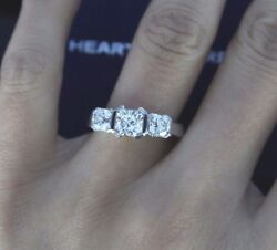 $19500 Hearts On Fire Platinum 2.01ct 3 Dream Cut Diamond Engagement Ring Band