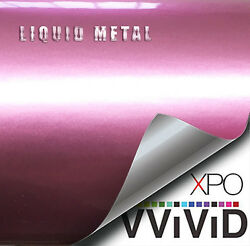 VViViD Liquid Metal Storm Pink vinyl car bike boat wrap Gloss film u choose size