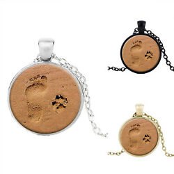 High Quality Dog Paw Pendant Necklace Footprint paw Pendant Lover Gifts