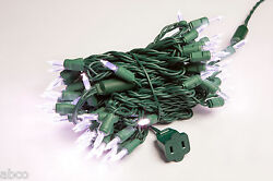 144 Strands 80 Bulb Pure White LED Christmas Mini Lights Green Wire 31' Outdoor