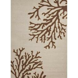 Jaipur Rugs Grant Bough Out 9 X 12 IndoorOutdoor Rug - IvoryBrown