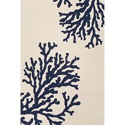 Jaipur Rugs Grant Bough Out 5 X 7.6 IndoorOutdoor Rug - BlueIvory