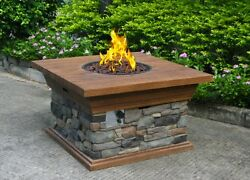 FIRE PIT OUTDOOR FIREPLACE PATIO FURNITURE Decor Firepit OUTSIDE Propane