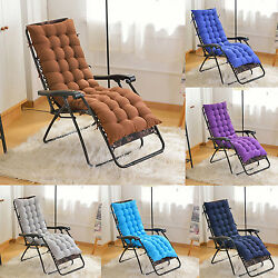 Chaise Lounge Chair Cushion Outdoor Seat Tufted Padding Mattress Pool Patio Deck