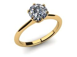 AGI APPRAISAL DIAMOND ROUND BRILLIANT RING 14K YELLOW GOLD 2.5 CARATS SOLITAIRE