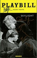 SKYLIGHT Playbill Signed By BILL NIGHY CAREY MULLIGAN + One