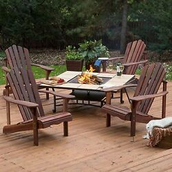 NEW 5  Pc. Adirondack Chair Fire Pit Chat Set for your Deck or Patio