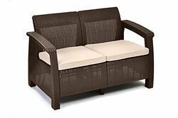 Loveseats For Small Spaces Couches Wicker Patio Love seat Sofa Cushion Outdoor