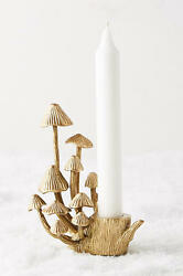 Anthropologie Arden Taper Candle Holder one mushroom taper lodge cabin SOLD OUT