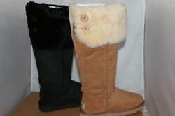 UGG Australia Women's Bailey Button Over the Knee Boots - Chestnut or Black