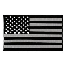Reflective Black & Grey American Flag Patch U.S. Flag Patches