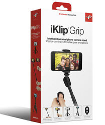 NEW IK Multimedia iKlip Grip w Bluetooth Shutter - Selfie Stick Stand