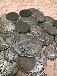Antique Coin Collection of Walking Liberty .50c Mercury .10c Liberty .05c