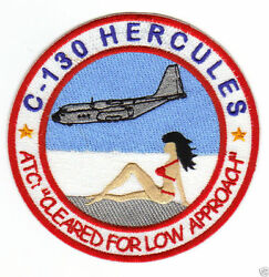 C 130 HERCULES HUMOROUS PATCH RED BIKINI ON BEACH quot;CLEARED FOR LOW APPROACHquot; Y $12.95