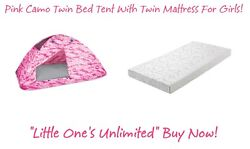 ****Pink Camo Twin Bed Tent With Twin Mattress Awesome Set for Girl's****