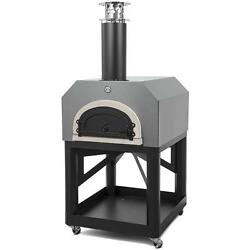 Chicago Brick Oven Cbo-750 Outdoor Wood Fired Pizza Oven On Cart - Silver