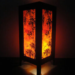 Asian Oriental Dawning Sunset Japanese Art Bedside Desk or Table Lamp Shades GBP 7.85