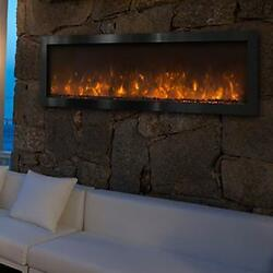 Modern Flames 60-inch Nova IndoorOutdoor Electric Fireplace With Black