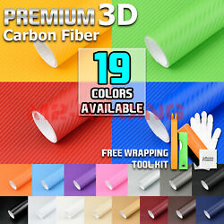 *18 Colors !!! 3D Matte Dry Carbon Fiber Vinyl Sticker Wrap Decal Sheet Film DIY