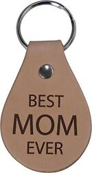 Best Mom Ever Leather Key Chain - Great Gift for Mothers's Day Birthday or Ch...