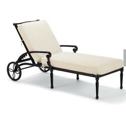 Frontgate Carlisle Outdoor Furniture Chaise Lounge Chairs Pool Set 2 Onyx PU NY
