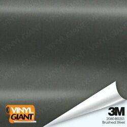 3M 1080 BR201 BRUSHED STEEL Vinyl Vehicle Car Trim Wrap Decal Film Sheet Roll