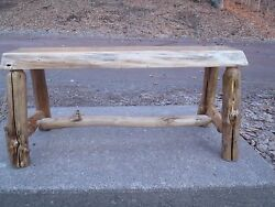 Rustic Spalted Maple Log bench*Reclaimed wood Furniture Home Cabin Decor table*