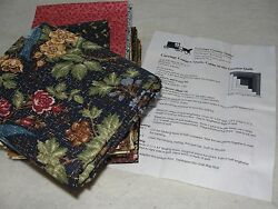 CABIN IN THE GARDEN Quilt Kit Log Cabin Pattern & Fabric