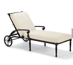 Frontgate Carlisle Outdoor Furniture Chaise Lounge Chairs Pool Set 6 Onyx PU NY