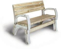 Outdoor Park Wooden Bench Table Garden Patio Furniture Yard Deck Wood Seat Home