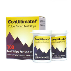 GenUltimate! 100ct Test Strips for OneTouch Ultra Meters Exp 022019