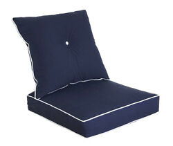 Bossima Outdoor Chair Cushion Patio Deep Seat High Back Pad Set Dining Navy blue
