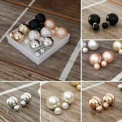 5 pairs Double sided Faux Pearl Earrings $6.59