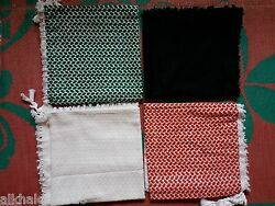 4 x High Quality Multicolor Shemagh Yashmagh Keffiyeh Scarf Free Shipping
