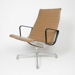Museum Quality Eames Herman Miller Aluminum Group Lounge Chair Tan Upholstery!
