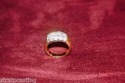 Exquisite Custom 14k Mens 3+ct Alpha Fire 15 Diamond Cluster G VSSI PINKY RING