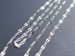 5 Feet - 925 Sterling silver chain by the foot footage bulk fancy dapped links