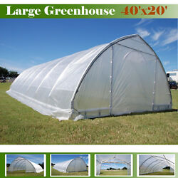 SAVE $$$ Heavy Duty Green Garden Hot House - Greenhouse 40' x 20' Clear