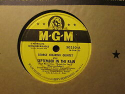 GEORGE SHEARING Quintet - September In the Rain  East Of    MGM 30250 - 78rpm