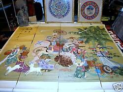 ANTIQUE CHINESE PAINTINGS ON SILK 6 Feet  x 5.5 Feet