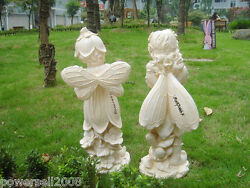 New Fashion A pair Standing butterfly angel Sculpture