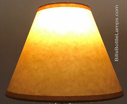 Rustic Cottage Table Light LAMP SHADE Oil Kraft Clip On Bulb Style 9quot; inch Cone $25.49