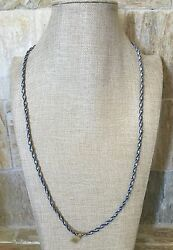 CHAN LUU Silver Beads on Cashmere Blue Thread Wrap BraceletNecklace 34