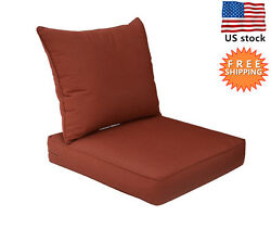 Bossima Sunbrella Outdoor Chair Cushions Patio Deep Seat Pad Set Replacement