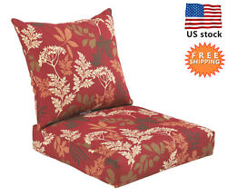 Bossima Outdoor Chair Cushion Patio Deep Seat High Back Pad Set Dining Floral