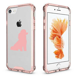 For iPhone X 6 6s 7 8 Plus Clear Shockproof Case Miniature Poodle Toy Poodle $14.99