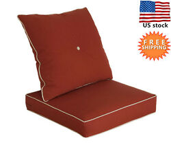 Bossima Outdoor Chair Cushions Patio Deep Seat High Back Pad Set Dining Red