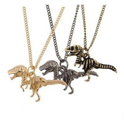 Creative Dinosaur Animal Pattern Necklace Long Chain Pendant Fashion Jewelry