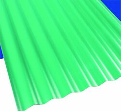 Suntop 108977 Corrugated Roofing Panel 26 in W x 12 ft L Green Polycarbonate